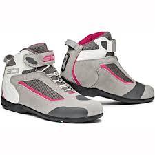 ladies motorbike boots sidi gas ladies motorcycle boots grey pink the visor shop com