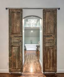 best french country design and decor ideas for rustic wooden barn doors for ensuite bathroom