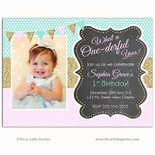 Invitation Cards For First Birthday One Derful Birthday Invitation One Derful Year Invitation
