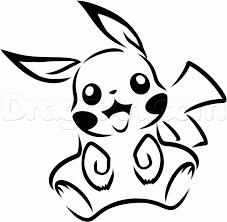 11 how to draw tribal pikachu