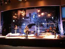 church backdrops christmas on the lake church stage design ideas