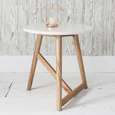 gray wood side table gallery direct hamar white semi gloss and natural ash wood side