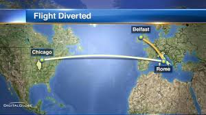 United Flight Map Police United Flight Diverted To Belfast Because Passenger