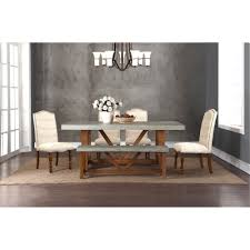 faux cement and natural 5 piece dining set bohemian collection