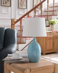 grandview gallery lighting home decor kings brand light blue with white fabric shade table lamps set of