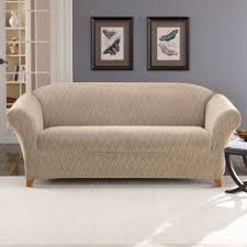 sure fit denim sofa slipcover contemporary living room with sure fit stretch braid sofa slipcover