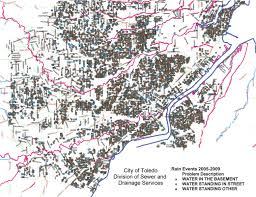 Toledo Ohio Map Toledo U0027s Chronic Urban Flooding Great Lakes Coastal Resilience