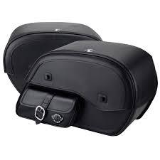 honda vtx 1800 c motorcycle saddlebags side pocket shock cut leather