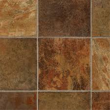 shop tarkett 12 ft w dark rust tile low gloss finish sheet vinyl
