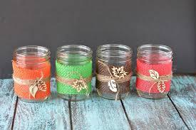 diy fall decorations burlap mason jar centerpieces