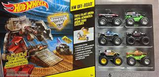monster jam monster trucks amazon com wheels monster jam triple blast arena with 6