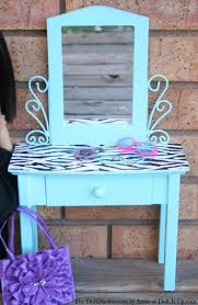 Blue Vanity Table Doll Size Vanity Table Refinished Doll Diaries
