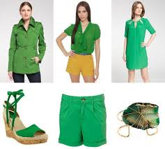 what color goes with green how to wear kelly green for spring summer 2012