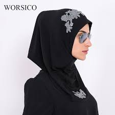 arab wrap worsico women fashion cotton embroidery muslim arab