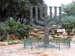 jerusalem menorah menorah in front of the knesset jerusalem israel stock photo