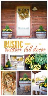 rustic fall porch log cabin decorating cabin decorating and