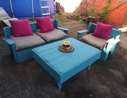 canapé exterieur palette réalisation d un salon de jardin en palettes