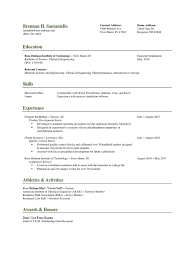 Excel Spreadsheet Development Santaniello Generic Resume