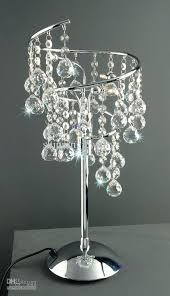 Chandelier Lamp Shades With Crystals Crystal Chandelier Table Lamps U2013 Thelt Co