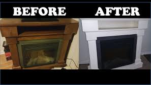 Paint Wood Furniture by How To Paint Wood Furniture Wood Electric Fireplace Youtube