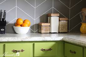 DIY Herringbone Tile Backsplash - Tile backsplash diy