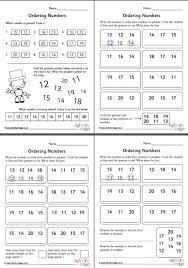 ordering numbers 11 to 20 worksheets set 1
