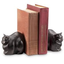 anecdotal aardvark amazon com spi home chubby cat bookends home u0026 kitchen