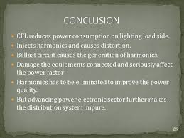 power factor for lighting load review of cfl and its harmonic impact on electrical distribution
