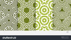 set original floral patterns modern ornament stock vector