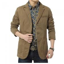 jeep rich jacket jeep rich multi functional men s suit collar jacket khaki xxxl