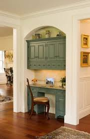 kitchen desk ideas built in office cabinets ideas his and hers desk we built this