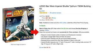 amazon discounts black friday star wars black friday deals exclusively for amazon prime members