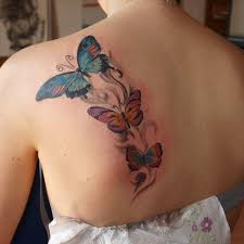 exciting back 7 butterfly back on tattoochief com