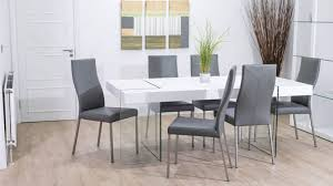 minimalist small dining room futuristic tempered glass curved base
