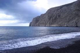 Volcanic Sand Emtalks Kamari Beach U0026 Fira What To Do In Santorini Exploring