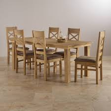 Costal Extending Dining Set In Oak Table 6 Chairs