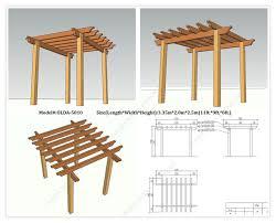 Building A Freestanding Pergola by Incredible Free Standing Pergola Plans Designs Garden Landscape