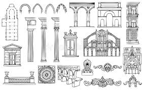 architecture and ornaments vector set stock vector image 20309697