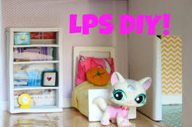 lps diy how to make a miniature bookshelf for dollhouse youtube