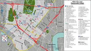 New Orleans Street Car Map by New Orleans City Map Adriftskateshop
