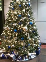 blue silverhite tree decorationsblue