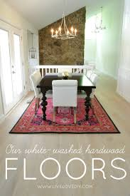 How To Whitewash Wood Walls by Livelovediy Our New White Washed Hardwood Flooring And Why We