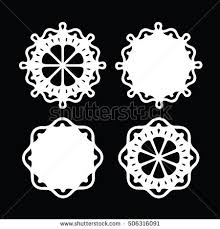 abstract ornament stencil pattern cut stock vector 506316091