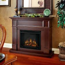 electric fireplace heaters lowes chimney free cherry wood veneer