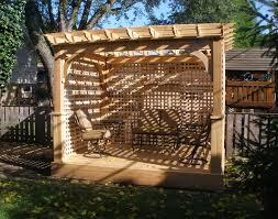 10 X 10 Pergola by Customer U0027s Photo 8 U0027 X 10 U0027 Cedar Deluxe 4 Beam Pergola