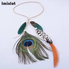 imixlot boho style peacock feather headbands for headdress