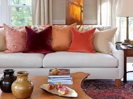 beautiful small elegant living room with fall decoration ideas