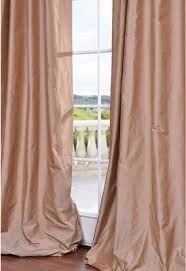 Blush Pink Curtains Blush Pink Silk Curtain Taffeta Silk Window Dressing Draping