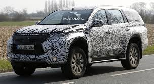 mitsubishi sports car 2016 spied 2016 mitsubishi pajero sport first sightings