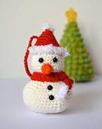 crocheted snowman ornament snowman ornament and tutorials
